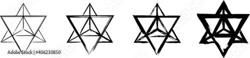 Photographie Set of the Merkaba symbols