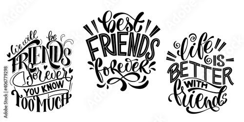 Obraz na płótnie Quote about friends