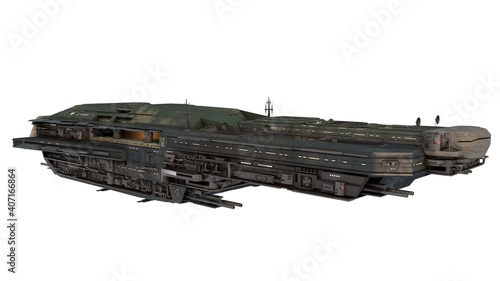 Foto interstellar battle cruiser, spaceship for science fiction projects
