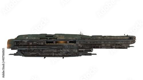 Stampa su Tela interstellar battle cruiser, spaceship for science fiction projects