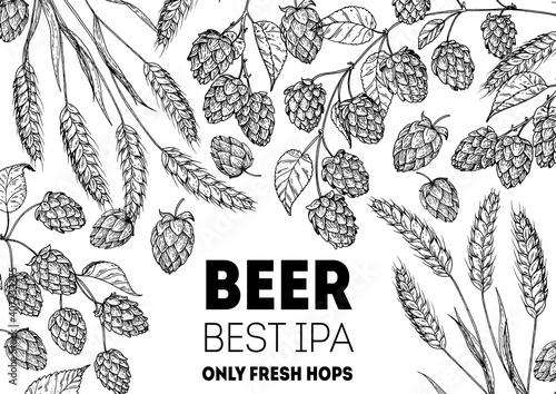 Obraz na plátně Brewery design template