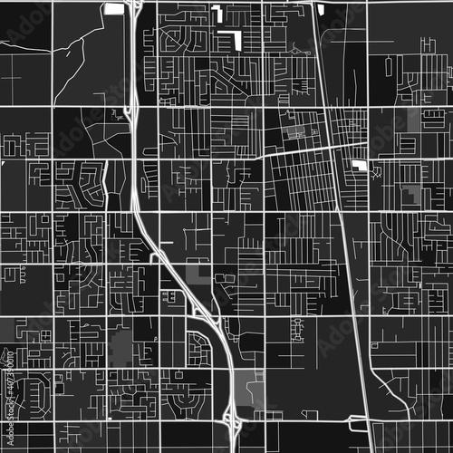 Fototapeta Lancaster, UnitedStates dark vector art map