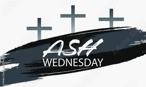 Fotografia, Obraz Ash Wednesday is a Christian holy day of prayer and fasting
