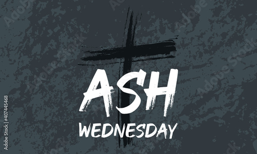 Obraz na plátne Ash Wednesday is a Christian holy day of prayer and fasting