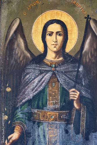 Leinwand Poster Archangel Gabriel,, icon, Byzantine hagiography