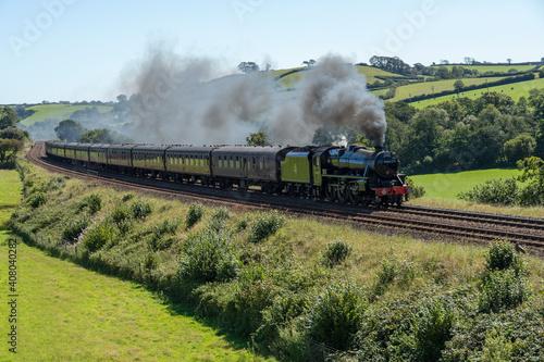 Fotografia Black 5 Steam train in Totnes  Devon UK