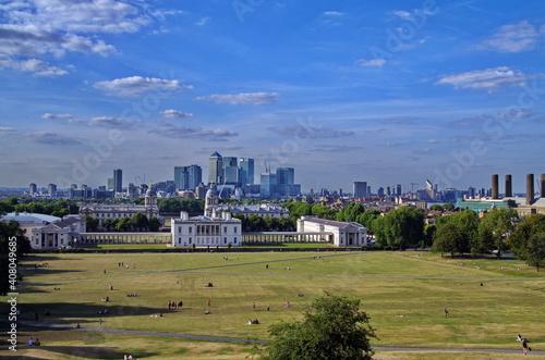 Tela panorama of the city london city greenwich