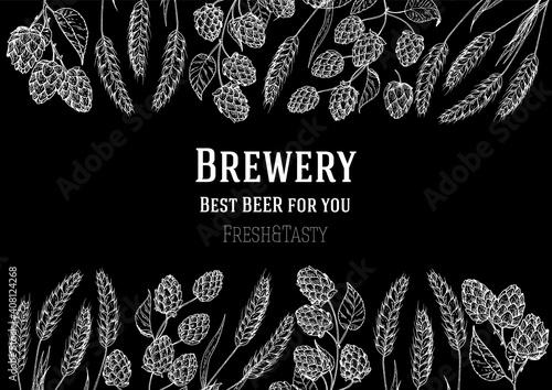 Fotografie, Obraz Brewery design template