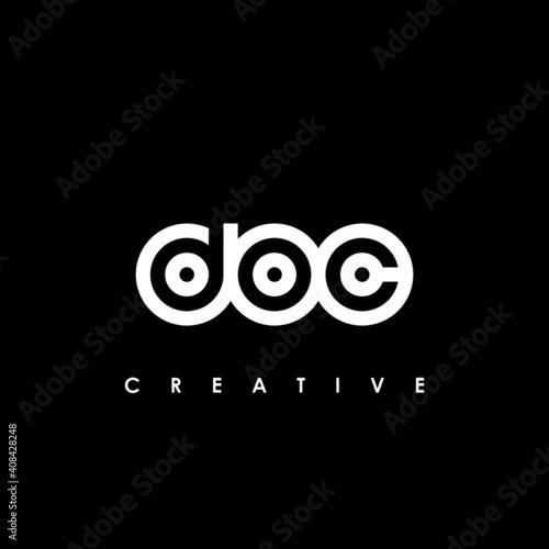DOC Letter Initial Logo Design Template Vector Illustration Fototapet