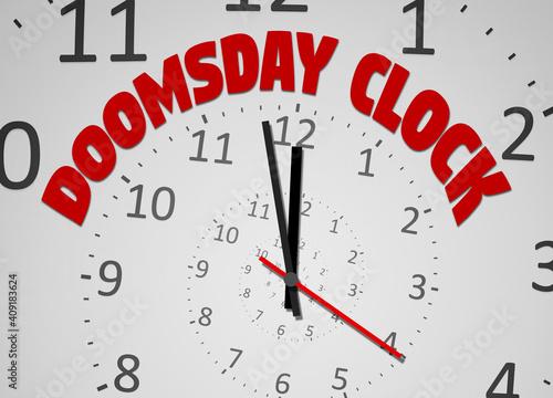 Stampa su Tela doomsday clock 100 seconds to twelve