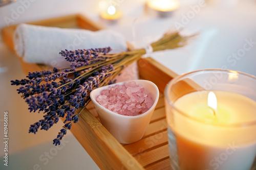 Foto Spiritual aura cleansing ritual bath for full moon ritual
