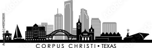 Canvas Print CORPUS CHRISTI Texas SKYLINE City Silhouette