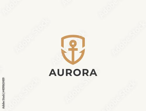 Anchor logo icon design template Tapéta, Fotótapéta