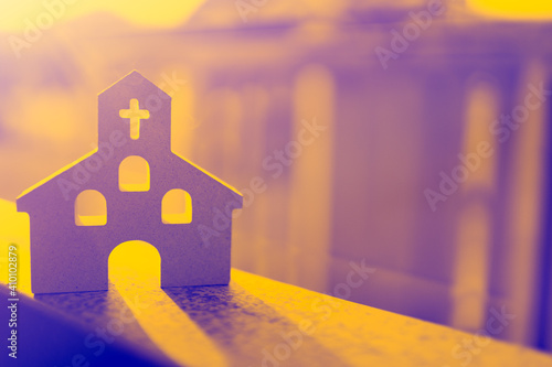 Canvas Print Church at home background