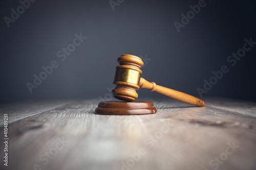 Stampa su Tela judge gavel on the table