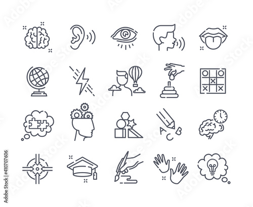 Fotografia Collection of outline icons