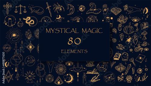 Fotografie, Obraz Witch Magic, Mystical and Astrology objects symbols