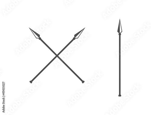 the spear icon. vector flat icon Fototapeta
