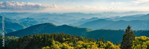 Fényképezés Blue Ridge Parkway summer Landscape