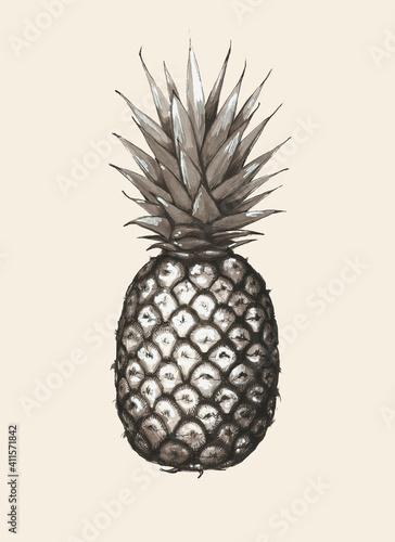 Beżowy ananas
