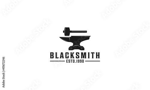 Fotografia blacksmith labels and design elements