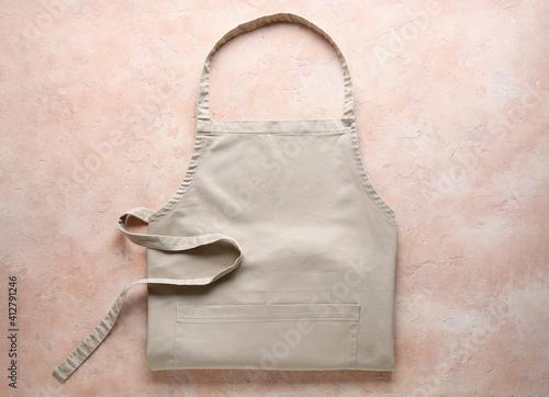Canvas Print Clean apron on color background