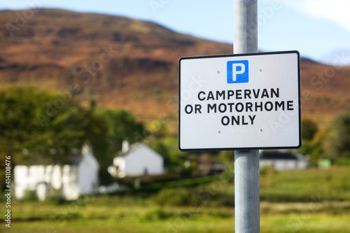 Canvas Motorhome and campervan only parking sign