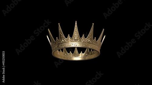 Fotografia Golden crown with dark background