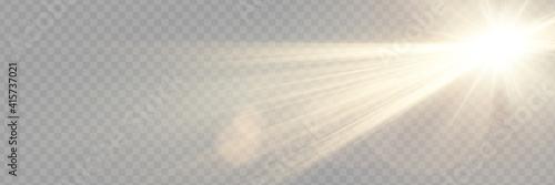 Obraz na płótnie Vector transparent sunlight special lens flare light effect.