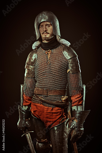 Fotografie, Obraz tired hero in his armor