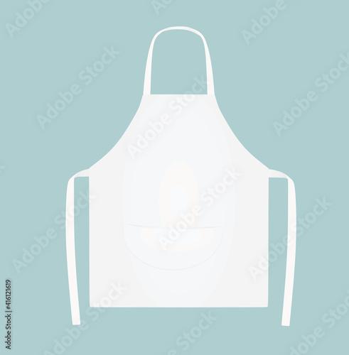 Photo White kitchen apron. vector illustration