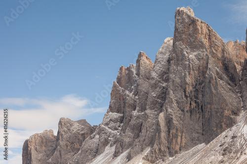 Fotografie, Obraz Detail of vertical Dolomites wall in Italy