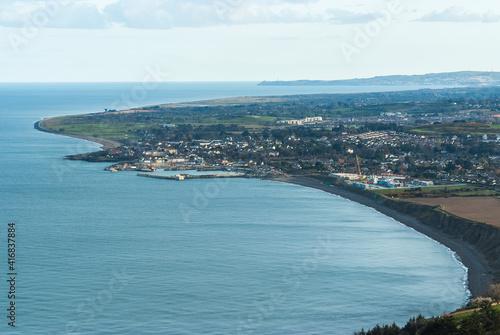 Fotografia, Obraz aerial view of Greystones, Ireland