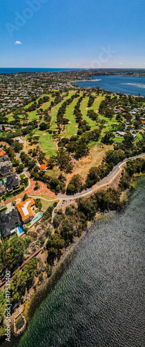 Платно Nedlands Gold Club from above, Perth