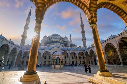 The Sultanahmet Mosque (Blue Mosque) in Istanbul Fototapeta
