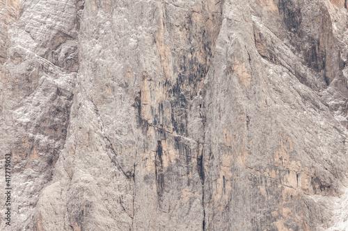 Fototapeta Detail of vertical Dolomites wall in Italy