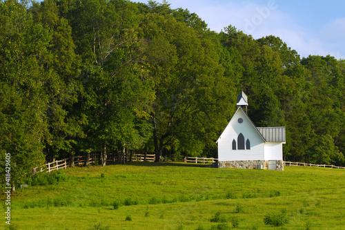 Vászonkép The Chapel, Saultopauls Stables, Chickamauga, Georgia, USA .