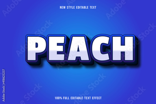 Wallpaper Mural editable text effect peach color white and blue