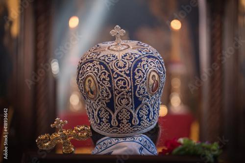 Fotografie, Obraz Orthodox church ceremony with high priest