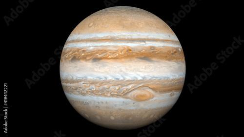 Obraz na plátně Realistic and Detailed Jupiter