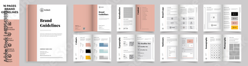 Obraz na plátně Brand Manual Template, Simple style and modern layout Brand Style , Brand Book,