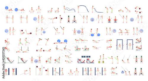 Foto Fitness exercises total body