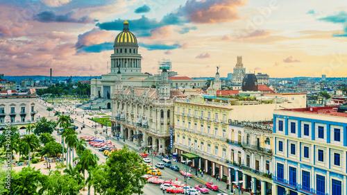 Obraz na płótnie Widok na panoramę miasta Hawana