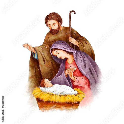 Fototapeta Christmas Nativity Scene