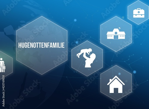 Obraz na płótnie Hugenottenfamilie