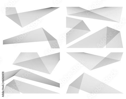 Obraz na plátne Design element Curved sharp corners wave many lines