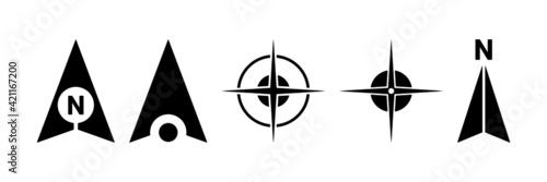 Fotografie, Obraz North arrows symbol vector set.