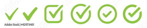 Valokuvatapetti Green collection of check mark