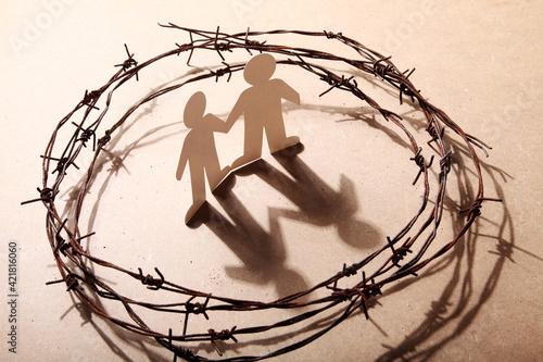 Crime, Imprisonment, Refugee And Humanity Concept Fototapeta
