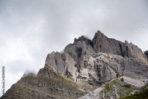 Fotografie, Obraz Low Angle View Of Rocky Mountains Against Sky